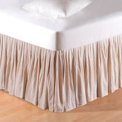 Striped Bed Skirt Size: King