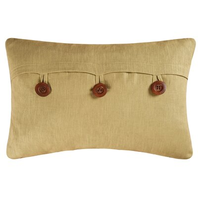 Fleming Button Envelope Linen/Cotton Lumbar Pillow Color: Green