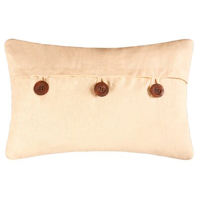 Fleming Button Envelope Linen/Cotton Lumbar Pillow Color: Yellow