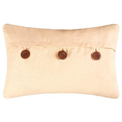 Fleming Button Envelope Linen/Cotton Lumbar Pillow Color: Yellow