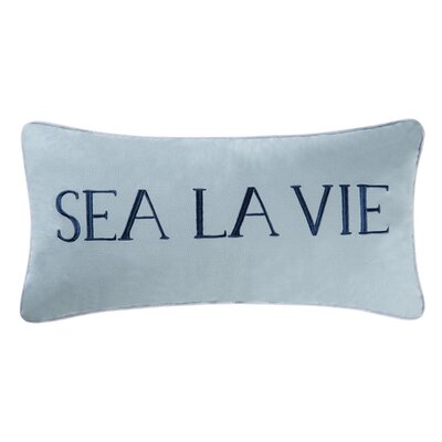 Arabelle Sea La Vie Coastal Cotton Lumbar Pillow