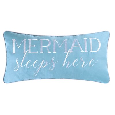 Brayton Mermaid Sleeps Here Cotton Lumbar Pillow