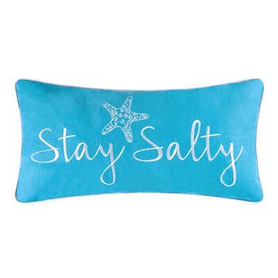 Brazell Stay Salty Cotton Lumbar Pillow
