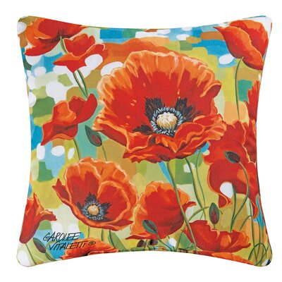 Poppy Field Indoor/Outdoor Throw Pillow