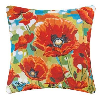 Poppy Field Indoor/Outdoor Throw Pillow