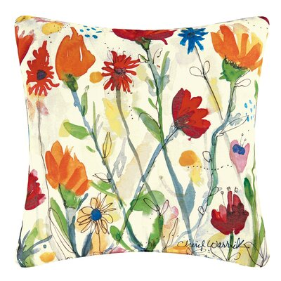 Wildflower Indoor/Outdoor Throw Pillow