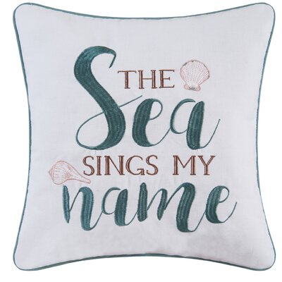 Breezy Shores Cotton Throw Pillow