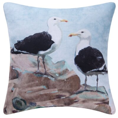 Seagulls Indoor/Outdoor Throw Pillow