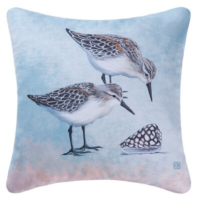 Sand Pipers Indoor/Outdoor Throw Pillow