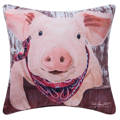 Pig Indoor/Outdoor Throw Pillow