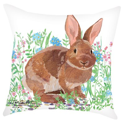 Bunny Indoor/Outdoor Throw Pillow