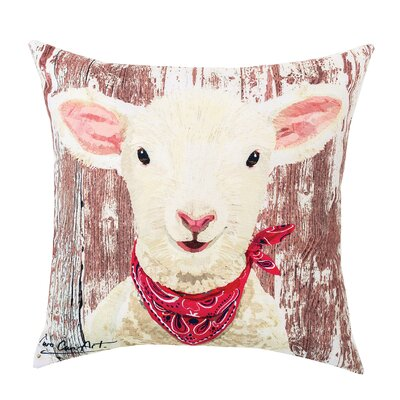 Lamb Indoor/Outdoor Throw Pillow