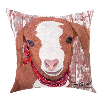 Goat Indoor/Outdoor Throw Pillow
