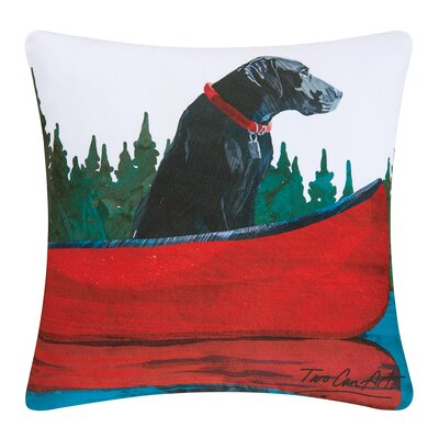 Lab Indoor/Outdoor Throw Pillow