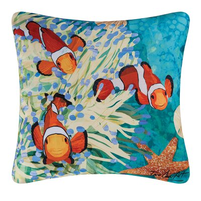 Reef Indoor/Outdoor Throw Pillow