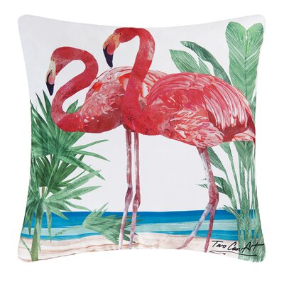 Flamingos Indoor/Outdoor Throw Pillow