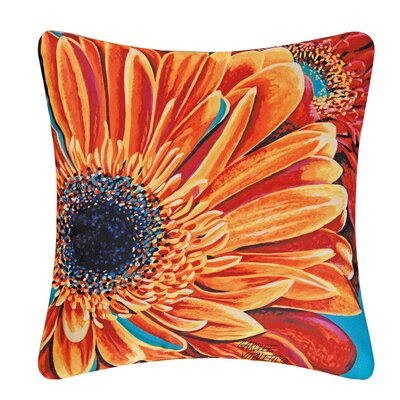 Gerbera Daisy Indoor/Outdoor Throw Pillow