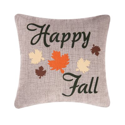 Happy Fall Leaves Throw Pillow