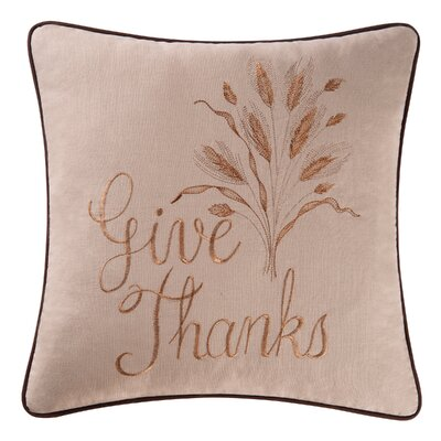 Give Thanks 100% Cotton Throw Pillow