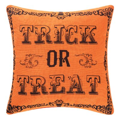 Goth Trick OR Treat Halloween Throw Pillow