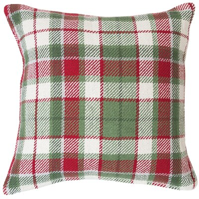 Ford Plaid 100% Cotton Throw Pillow