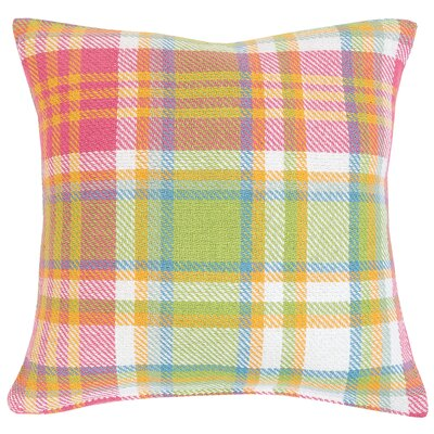Elsa Plaid 100% Cotton Throw Pillow