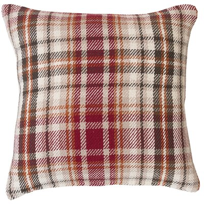 Jenine Plaid 100% Cotton Throw Pillow