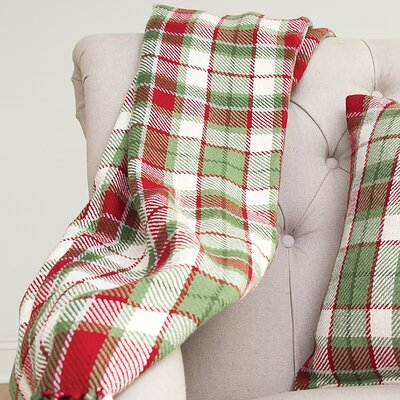 Ford Plaid 100% Cotton Throw