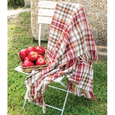Jenine Plaid 100% Cotton Throw