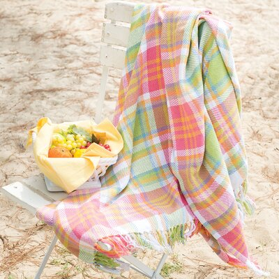 Elsa Plaid 100% Cotton Throw