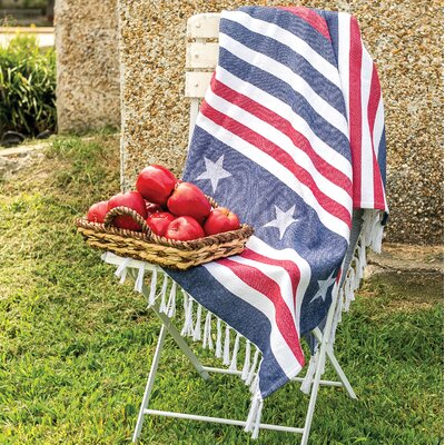 Stars and Stripes 100% Cotton Throw
