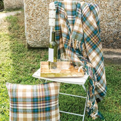 Karie Plaid 100% Cotton Throw