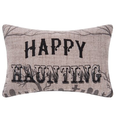 Goth Happy Haunting Halloween Lumbar Pillow