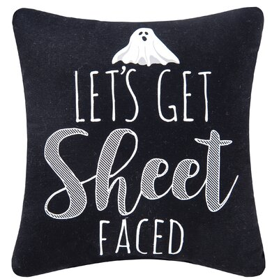 Lets Get Sheet Faced Halloween Throw Pillow