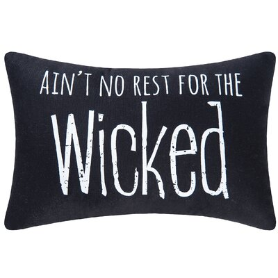 No Rest for the Wicked Halloween Lumbar Pillow