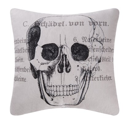 Goth Skull Halloween Throw Pillow