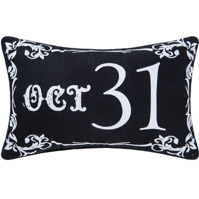 Goth Oct 31 Halloween Lumbar Pillow