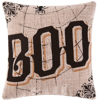 Goth Boo Halloween Throw Pillow
