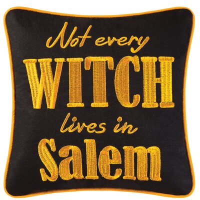 Not Every Witch Lives In Salem Halloween Throw Pillow