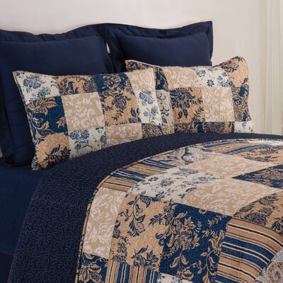 Bouchette Reversible Quilt Set Size: Twin