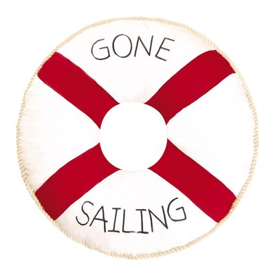 Round Gone Sailing Quilted Pillow