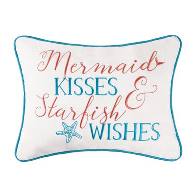 Boyster Mermaid Kisses Cotton Lumbar Pillow