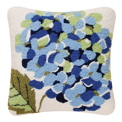 Brad Blue Hydrangea Throw Pillow