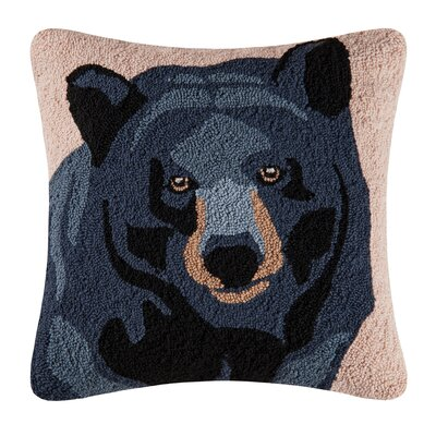 Navajo In the Woods Bear Throw Pillow