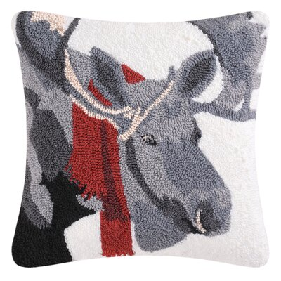 Welcome Friends Moose Throw Pillow