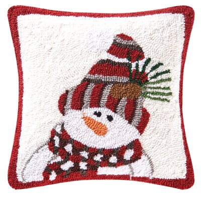 Knit Hat Snowman Throw Pillow