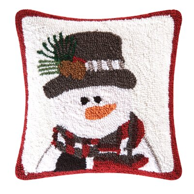 Top Hat Snowman Throw Pillow