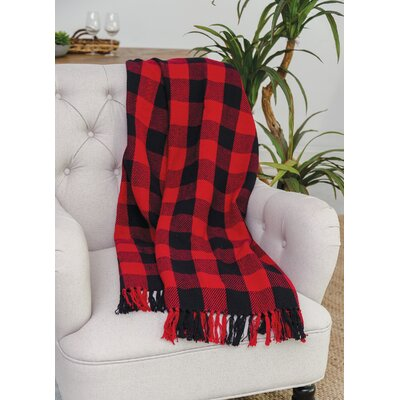 Isleton Cotton Throw Color: Red