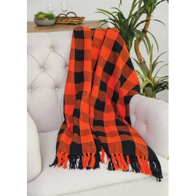 Isleton Cotton Throw Color: Orange