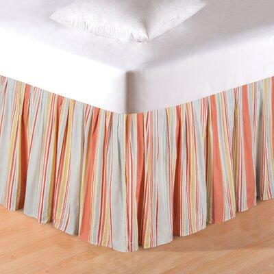 Esther Tropical Stripe Bed Skirt Size: Queen